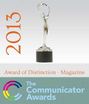 award_Communicator 2013 magazine